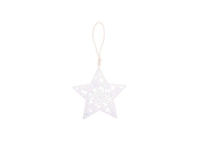 Bílá ozdoba ve tvaru hvězdy Sass & Belle