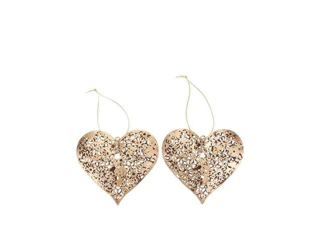 Sada dvou srdcí ve zlaté barvě Sass & Belle