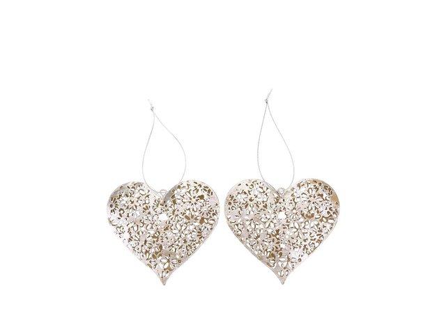Sada dvou srdcí ve stříbrné barvě Sass & Belle