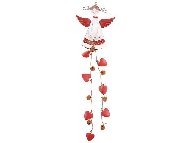 Dekorační anděl se srdíčky a rolničkami Sass & Belle