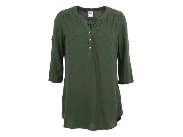 Tmavě zelená tunika Vero Moda Diva