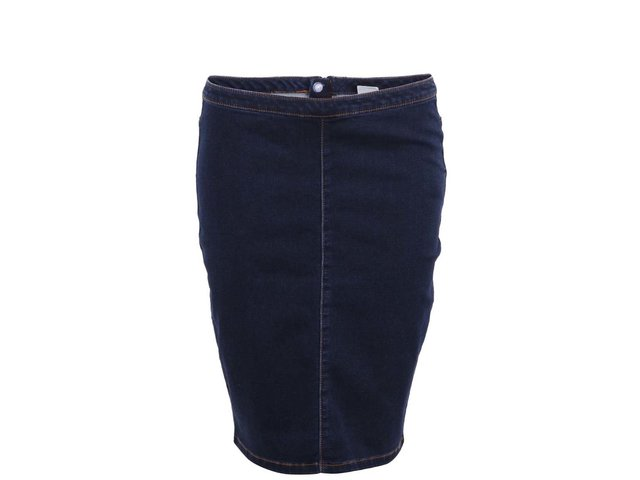Tmavě modrá džínová sukně Vero Moda Jersey