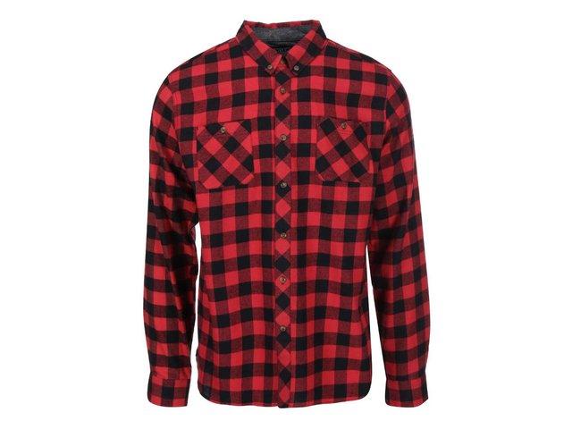 Černo-červená kostkovaná košile D-Struct Alaska