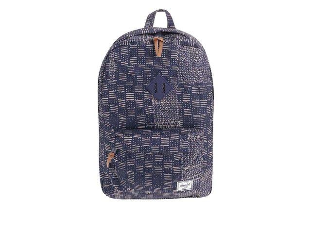 Tmavě modrý batoh s béžovým vzorem Herschel Heritage