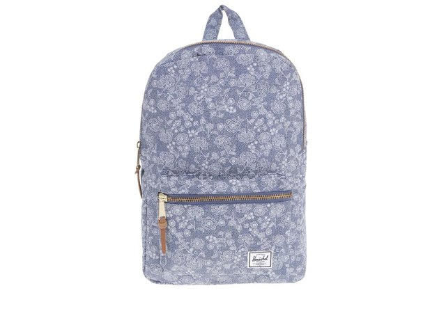 Modrý květovaný batoh Herschel Settlement Mid-Volume
