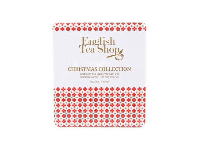 Plechová kazeta s bio čaji English Tea Shop Bílé vánoce