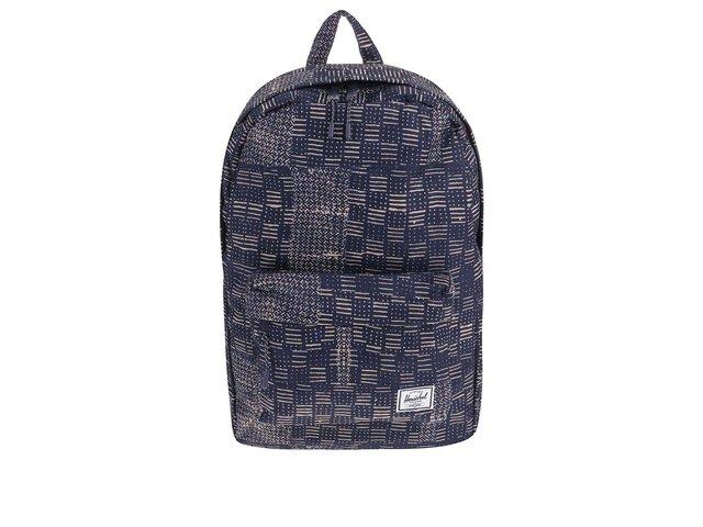 Tmavě modrý batoh s béžovým vzorem Herschel Classic