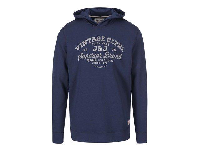 Tmavě modrá mikina s kapucí Jack & Jones Recycle Cody