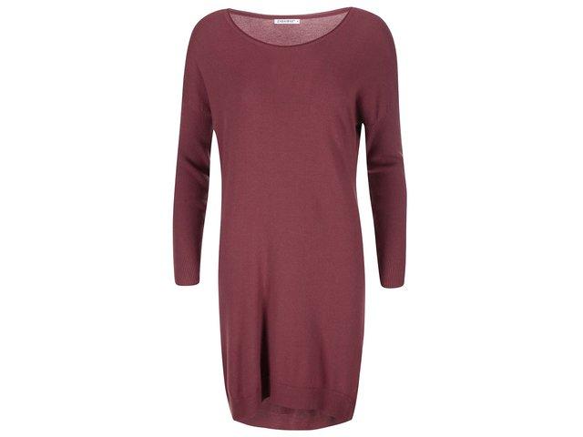 Červenohnědé svetrové šaty Zabaione Fijona