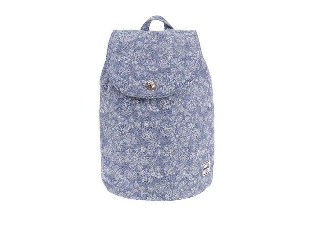 Modrý dámský květovaný batoh Herschel Ware