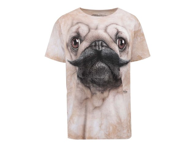 Unisex triko The Mountain Pug Stache