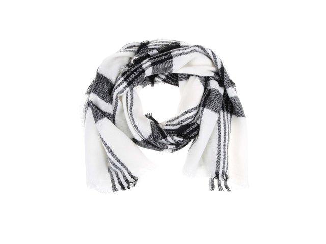 Černo-bílý kostkovaný šátek Haily´s Karo