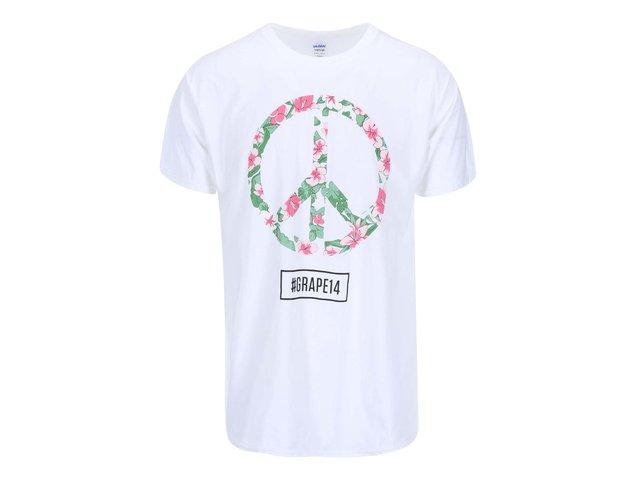 Bílé pánské triko Grape Logo Square