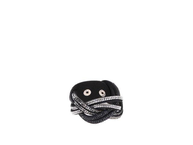Stříbrno-černý náramek Haily´s Stefanie