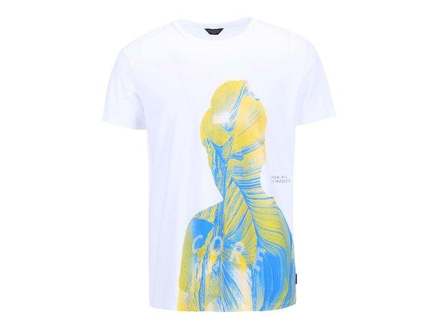 Bílé triko s potiskem Jack & Jones Expo