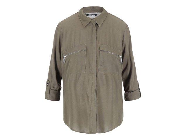Khaki halenka na zip Haily´s Donna