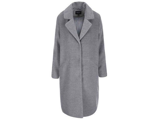 Světle šedý dámský dlouhý kabát Brave Soul Trixie