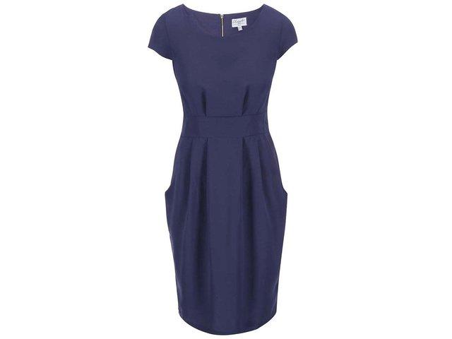 Fialovomodré pouzdrové šaty se zavazováním Closet