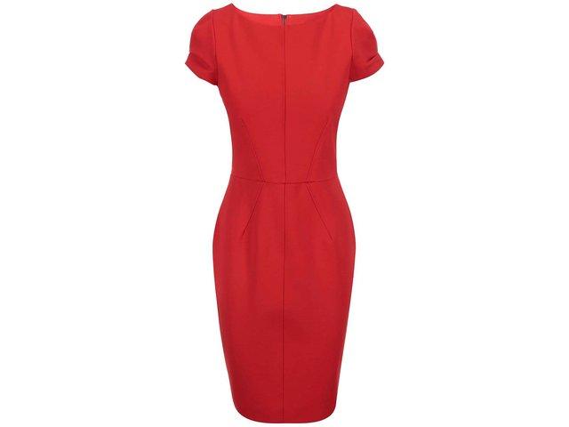 Červené pouzdrové šaty s krátkým rukávem Closet