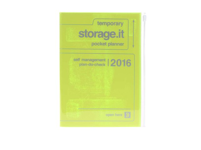 Zelenožlutý diář A6 2016 Mark's Storage.it