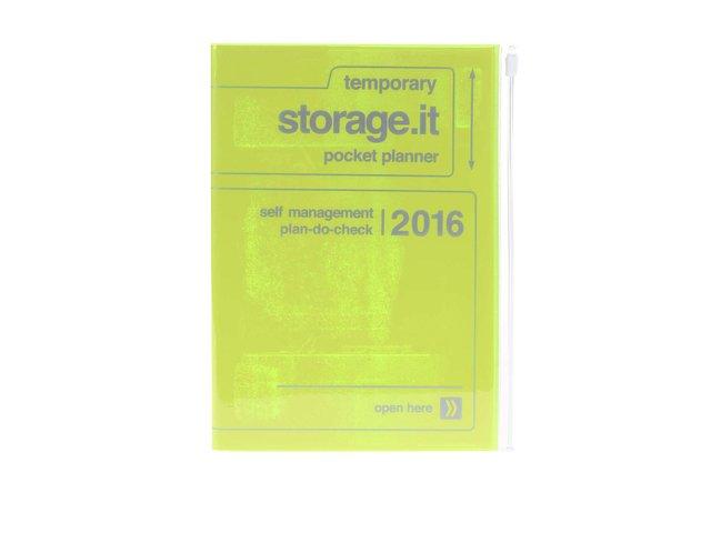 Zelenožlutý diář A6 2016 Mark's Storage.it