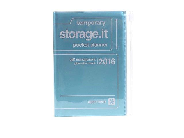 Zelenomodrý diář A6 2016 Mark's Storage.it