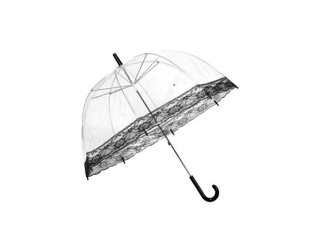 Průhledný deštník s černou krajkou Lindy Lou Lacedome