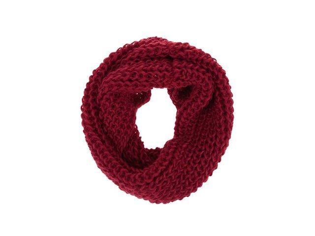 Červená dutá šála Haily´s Strick