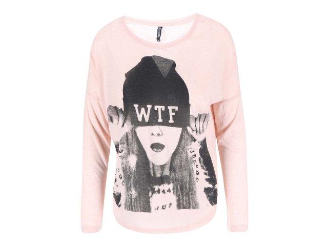 Růžové tričko s potiskem Haily´s Nicole