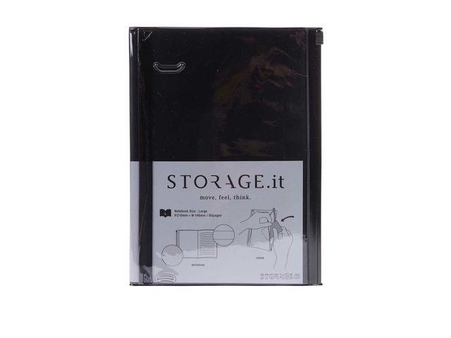 Černý zápisník s plastovým obalem Mark's Storage.it