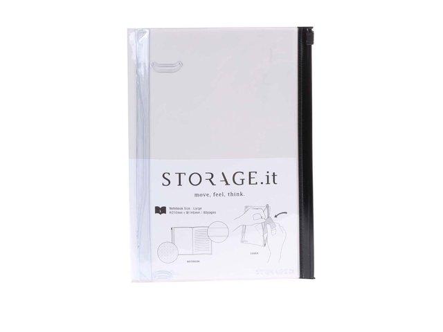 Krémový zápisník s plastovým obalem Mark's Storage.it