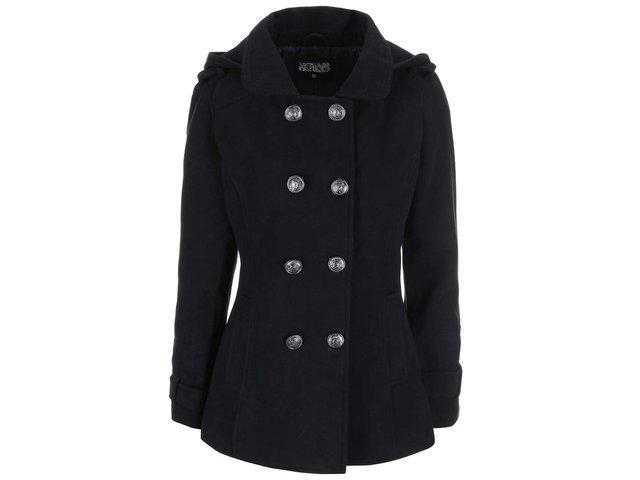 Černý kratší dvouřadý kabát Haily´s Lilly