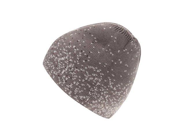 Hnědá čepice s kašmírem a s výšivkou s kamínky INVUU London