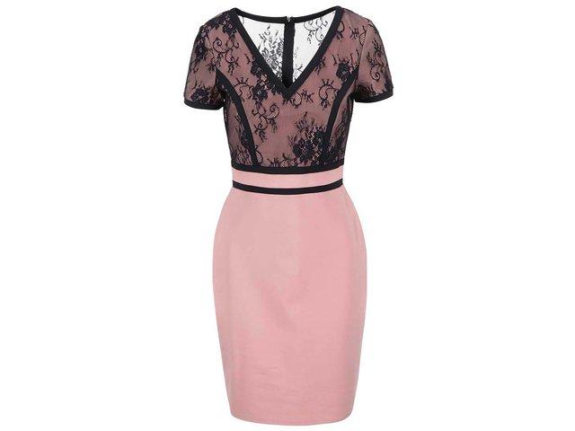 Černo-růžové pouzdrové šaty Paper Dolls
