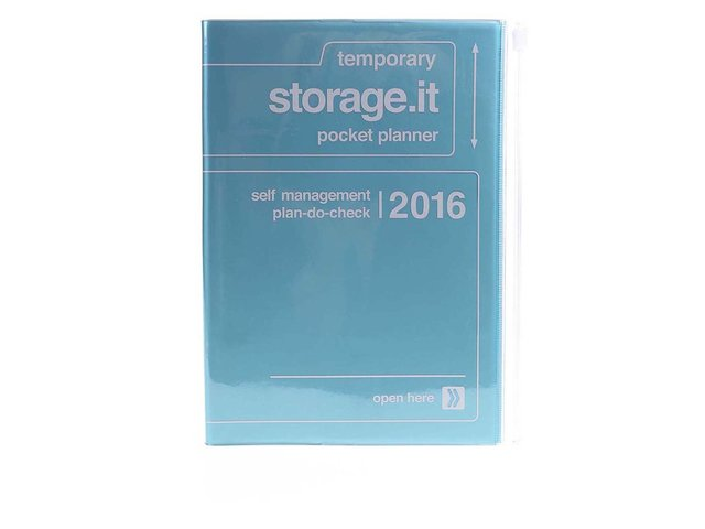 Zelenomodrý diář A5 2016 Mark's Storage.it