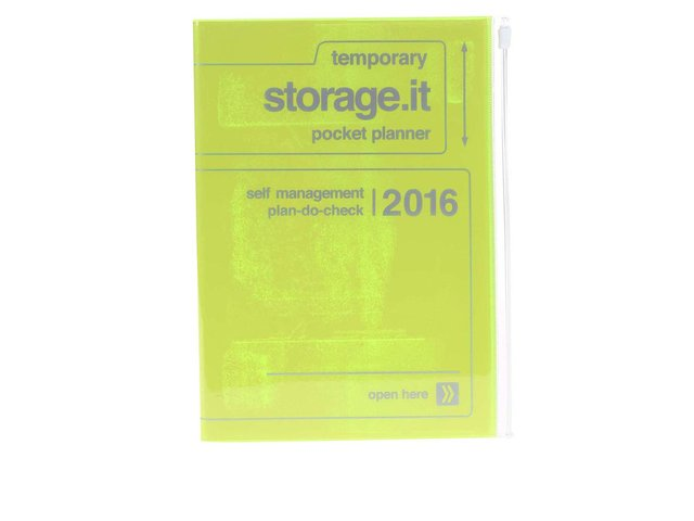 Zelenožlutý diář A5 2016 Mark's Storage.it