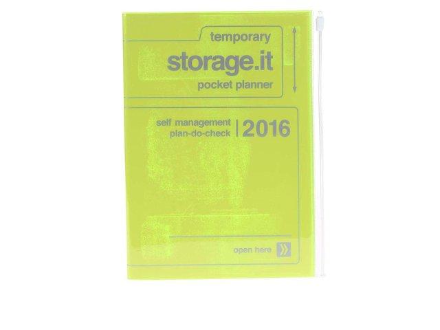 Zelenožlutý diář A5 2016 Mark's Storage.it