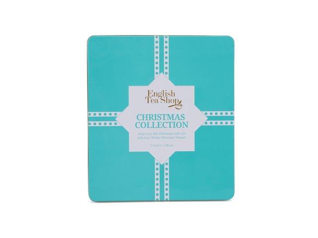 Plechová kazeta s čaji English Tea Shop Modré vánoce