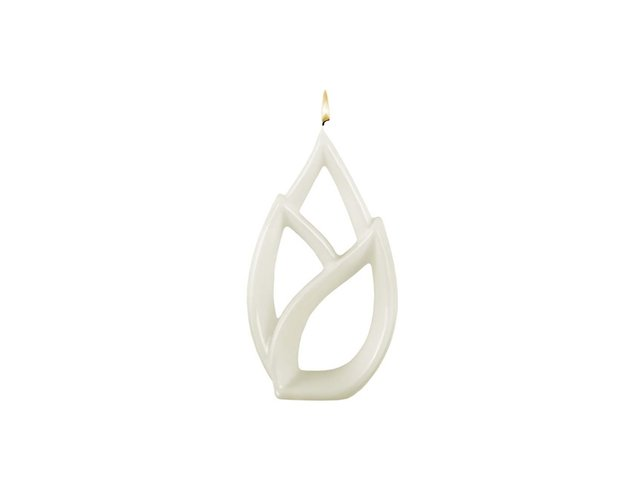 Bílá svíčka Alusi Livia Petit