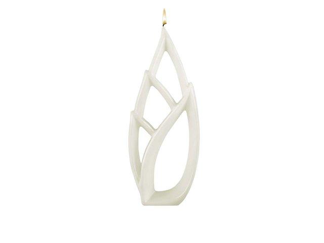 Bílá svíčka Alusi Livia Grande