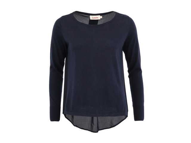 Tmavě modrý svetr Louche Marden s průsvitnými zády