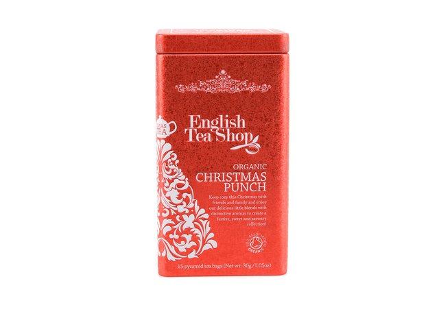 Bio čaje v plechové dóze English tea shop Vánoční punč