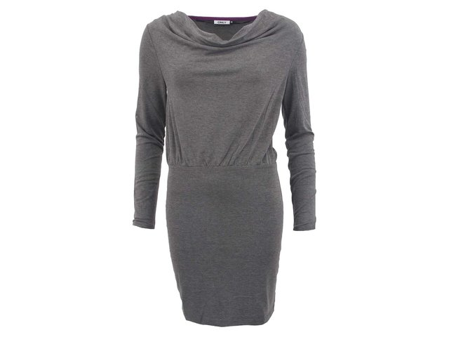 Tmavě šedé šaty ONLY Tinna
