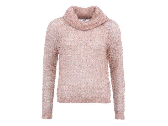 Béžový kratší svetr s rolákem Vero Moda Million