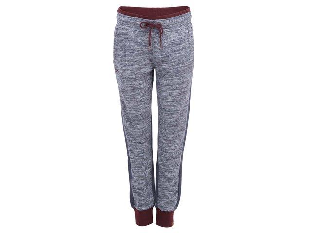 Vínovo-šedé dámské kalhoty Ragwear Homie