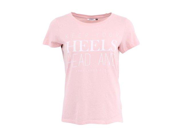 Růžové triko ONLY NOOMI