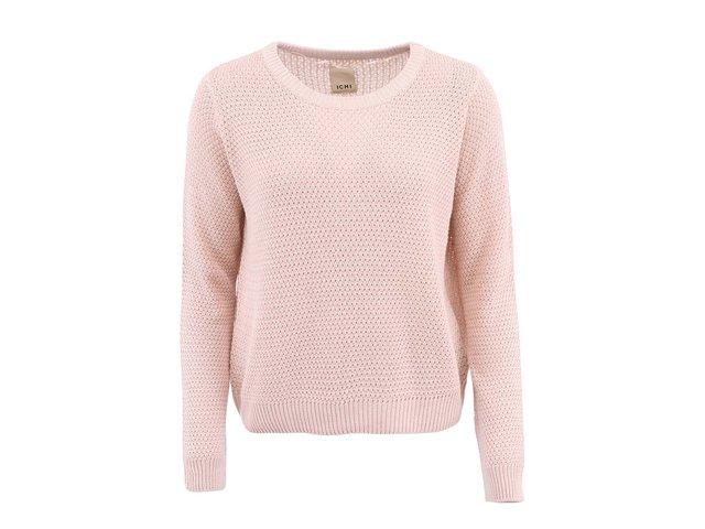 Růžový svetr ICHI Malulu