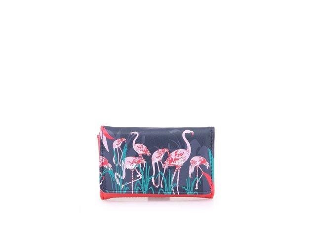 Červeno-šedá peněženka Disaster Flamingo Phone