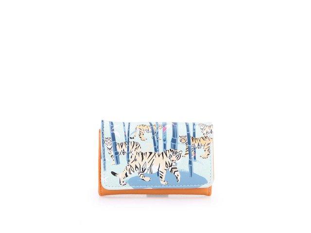 Oranžovo-zelená peněženka Disaster Tiger Phone