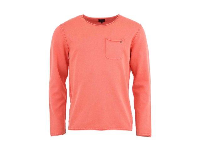 Oranžovočervený lehký svetr Jack & Jones Gerard